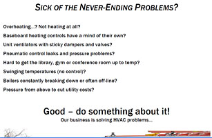 Sick of Never Ending Problems? / Services - PDF